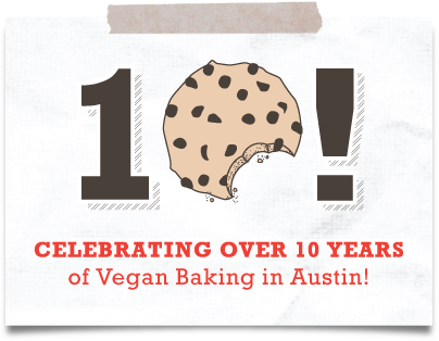 Celebrating 10 Years of Vegan Baking in Austin!